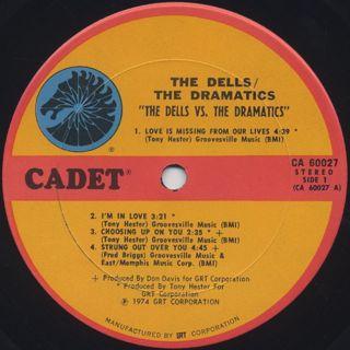 Dells / Dramatics / The Dells Vs. The Dramatics label