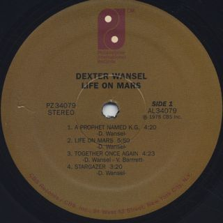 Dexter Wansel / Life On Mars label