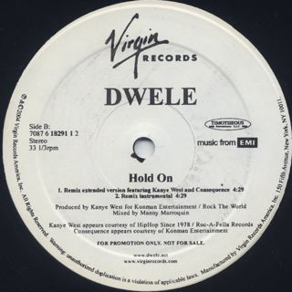 Dwele / Hold On back