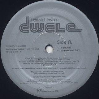 Dwele / I Think I Love U back