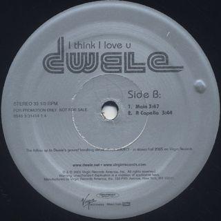 Dwele / I Think I Love U label