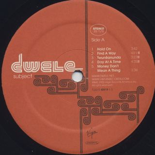 Dwele / Subject label