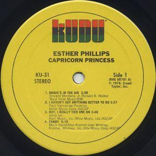 Esther Phillips / Capricorn Princess label