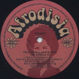 Fela And Afrika 70 / Fear Not For Man (Re) label