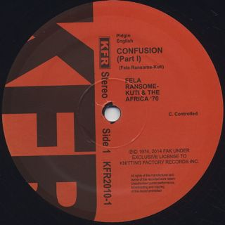 Fela Ransome Kuti & The Africa 70 / Confusion (Re) label