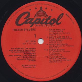 Foster Sylvers / Foster Sylvers label