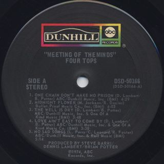 Four Tops / Meeting Of The Minds label