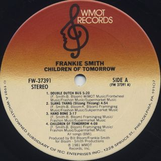 Frankie Smith / Children Of Tomorrow label