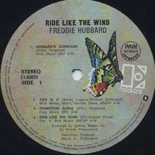 Freddie Hubbard / Ride Like The Wind label