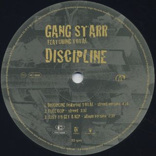 Gang Starr feat.Total / Discipline label