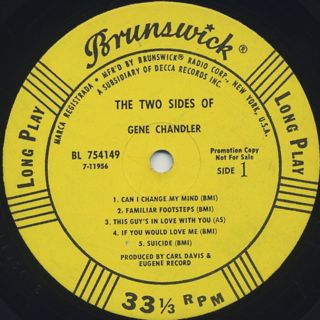 Gene Chandler / The Two Side Of label