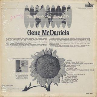 Gene McDaniels / The Wonderful World Of: Gene McDaniels back
