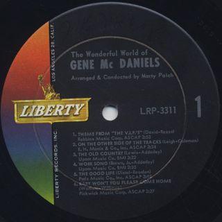 Gene McDaniels / The Wonderful World Of: Gene McDaniels label