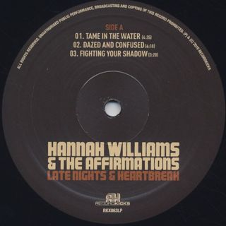 Hannah Williams & The Affirmations / Late Nights & Heartbreak label