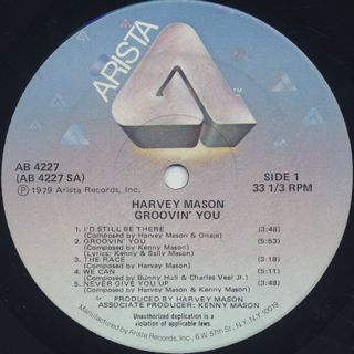 Harvey Mason / Groovin' You label