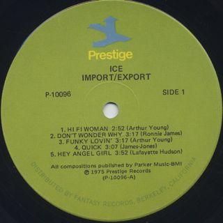 Ice / Import Export label