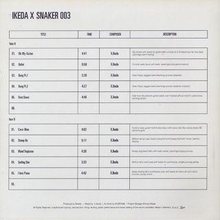 Ikeda X / Snaker 003 back