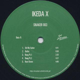 Ikeda X / Snaker 003 label