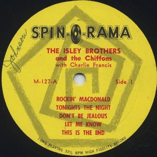 Isley Brothers and The Chiffons / Starring Isley Brothers and The Chiffons label