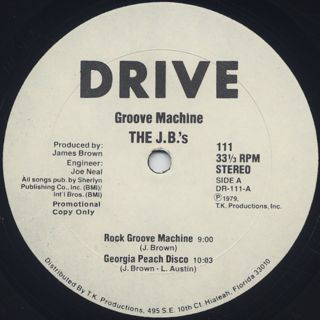 J.B.'s / Groove Machine label