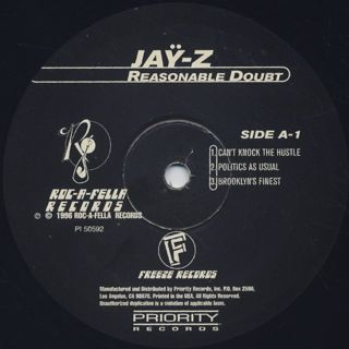 Jay-Z / Reasonable Doubt label