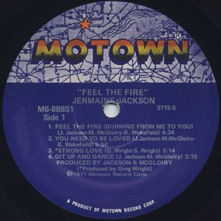 Jermaine Jackson / Feel The Fire label