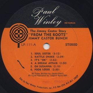 Jimmy Castor / The Jimmy Castor Story From The Roots label