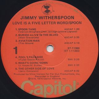 Jimmy Witherspoon / Love Is A Five Letter Word label