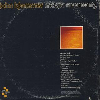 John Klemmer / Magic Moments back