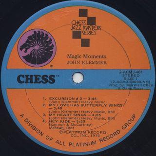 John Klemmer / Magic Moments label