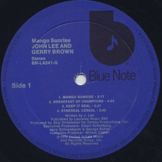 John Lee & Gerry Brown / Mango Sunrise label