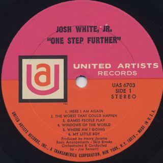 Josh White Jr. / One Step Further label