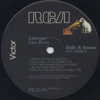 Keni Burke / Changes label