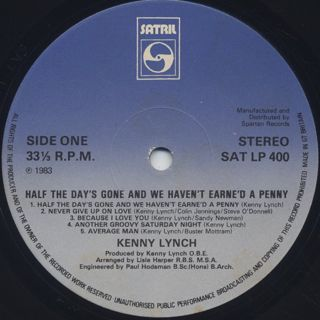 Kenny Lynch / Half The Day's Gone And We Haven't Earne'd A Penny label