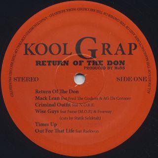 Kool G Rap / Return Of The Don label