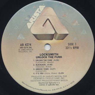 Locksmith / Unlock The Funk label