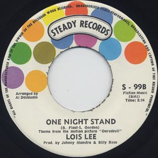 Lois Lee / The Daredevil c/w One Night Stand back