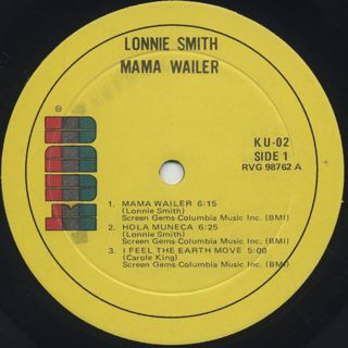 Lonnie Smith / Mama Wailer label