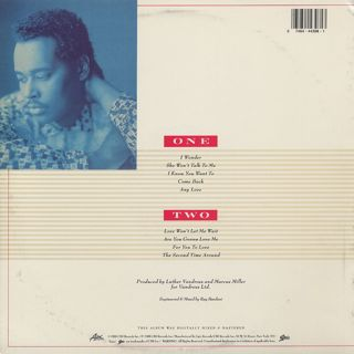 Luther Vandross / Any Love back