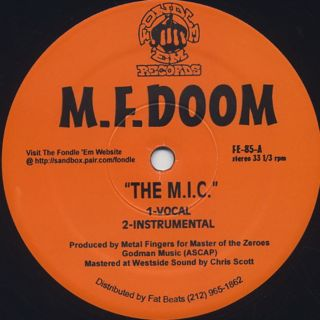 M.F. Doom / The M.I.C. b/w Red and Gold front