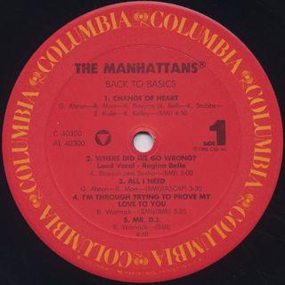 Manhattans / Back To Basics label