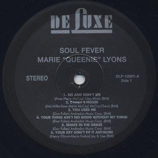 Marie Queenie Lyons / Soul Fever label
