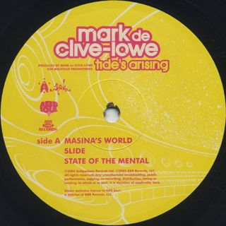 Mark De Clive-Lowe / Tide's Arising label