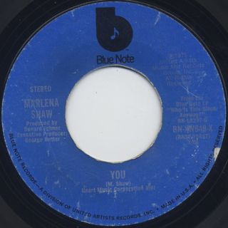 Marlena Shaw / Loving You Was Like A Party c/w You back