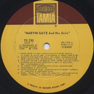 Marvin Gaye / Marvin Gaye And His Girls label