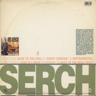 Mc Serch / Back To The Grill back