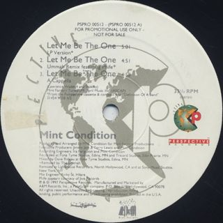 Mint Condition / Let Me Be The One back