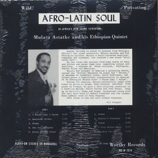 Mulatu Astatke & His Ethiopian Quintet / Afro-Latin Soul back