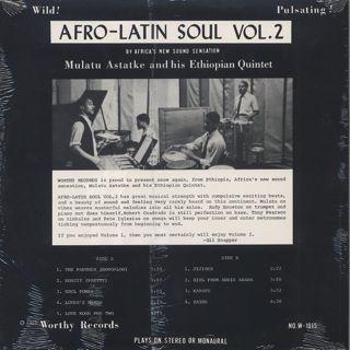 Mulatu Astatke & His Ethiopian Quintet / Afro-Latin Soul Vol.2 back