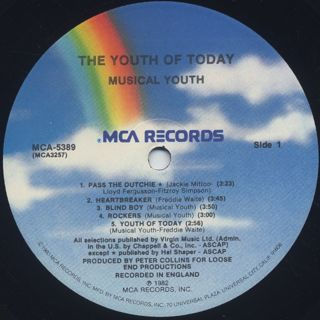 Musical Youth / The Youth Of Today label